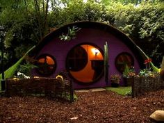 Hobbit hole: Way better than a treehouse. Building my kids one of these.... Except adult sized so I can enjoy it too :)