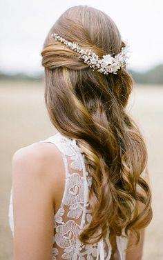 www.gardennearthegreen.com SONNET pearl bridal headpiece bohemian inspired