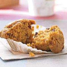 Canned pumpkin offers the same health benefits as fresh, but is a little more convenient. It contributes both color and moistness to these fruit-filled muffins.