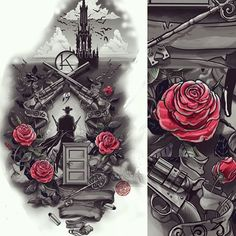 Dark Tower #tattoo #illustration #King #gunslinger #Кинг #ТемнаяБашня #тату #татуировка #иллюстрация #DarkTower