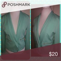 Mint green blazer This is a mint green blazer. Jackets & Coats Blazers