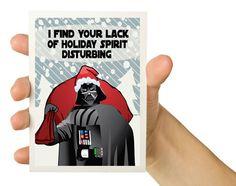 Tarjeta Vader - Navidad Geek