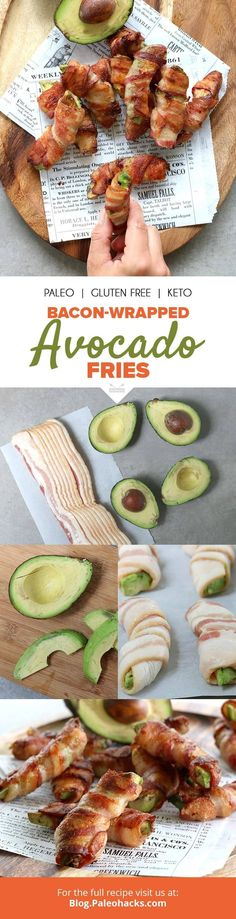 You've never tried avocado like this before. With a crispy bacon outside, and creamy center, these bacon-wrapped avocado fries are the perfect savory snack. Get the recipe here: http://paleo.co/baconavofries