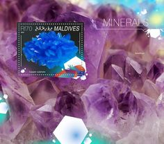 Post stamp Maldives MLD 14801 bMinerals (Copper sulphate)