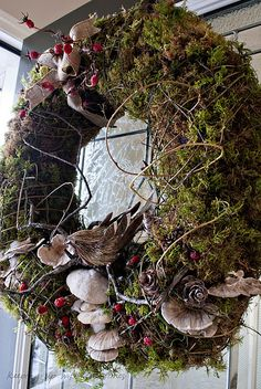 A woodland welcome #wreath - very different