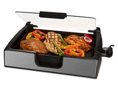 This would be great! Smokeless Indoor Grill by Smart Planet at Cooking.com