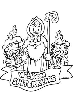 * Coloring Pages Saint Nicholas * Christmas In Holland, Christmas And New Year, Holidays Around The World, Simple Doodles, Dyi Crafts, Color Of Life, Colouring Pages, Christmas Colors, Easy Drawings