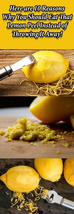 You've probably made a recipe or two that called for orange zest –meaning, the peel of the orange. How about a about lemon peel? Eating whole lemon helps to cut back on waste. Plus, there are some …