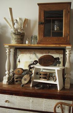 Upcycle my dresser by adding a top shelf with decorative legs and create a sideboard-like piece for the TV room or kitchen.