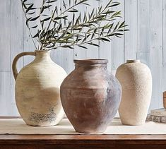 Shop vase from Pottery Barn. Our furniture, home decor and accessories collections feature vase in quality materials and classic styles. Vase Centerpieces, Vases Decor, Pottery Vase, Ceramic Pottery, Antique Pottery, Blue Pottery, Thrown Pottery, Round Vase, Clear Glass Vases