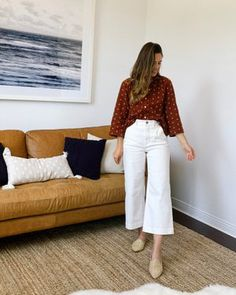 4 Ways to Style White Wide Leg Crops White Wide Leg Pants, Cropped Wide Leg Jeans, Wide Pants, Spring Look, Effortlessly Chic Outfits, White Pants Outfit, Parisian Chic Style, Trouser Outfits, Fashion Pants