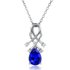 Beautiful 1.48ct Natural Blue Tanzanite in 18K Gold Pendant by CHARMES Jewellery