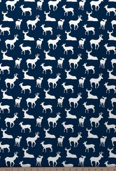 Deer Silhouette Premier Navy/White Drapery Fabric by Premier Prints Deer Fabric, Tapestry Fabric, Drapery Fabric, Navy Fabric, Curtains, Buck Silhouette, White Valance, Woodland Crib Bedding, Baby Pillows