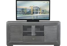 TV Consoles and stands for flat screen TVs. For 84 inch TVs and more. Shelves & doors for storage.