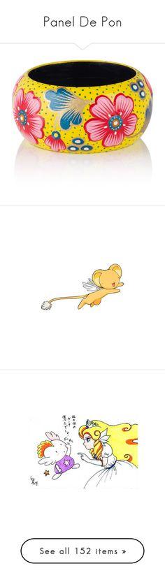 """Panel De Pon"" by leona-rex ❤ liked on Polyvore featuring videogames, nintendo, jewelry, bracelets, yellow, bangle bracelet, wood bangles, flower jewellery, wooden bangle bracelet and floral jewelry"