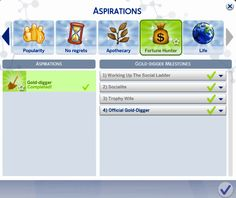 marlyn sims   The Sims 4 Gold-Digger Aspiration UPDATED! The...