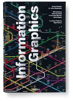 """Information Graphics"" by Sandra Rendgen and Julius Wiedemann (TASCHEN) was selected as one of the 50 best book designs of 2012.Cover design: Josh Baker; Art director: Praline, Al Rodger and David Tanguy"