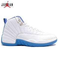 more photos eca4a f6e2a 136001-142 Air Jordan XII 12 Retro Mens Basketball Shoes Melo White Blue  A12011,