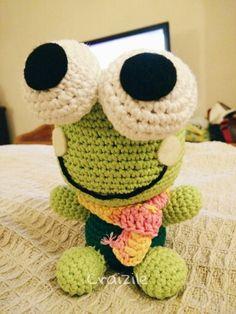 Keroppi free crochet pattern by Little Yarn Friends