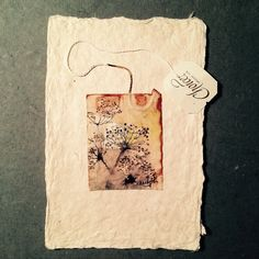 ruby silvious art — 363 days of tea. Day 127. #recycled #teabag #art...