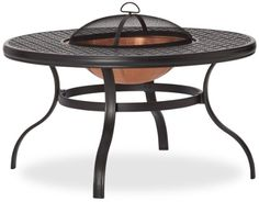 Strathwood Whidbey Cast-Aluminum Fire Pit with Table - Click image twice for more info - See a larger selection of fire pit tables at http://zcoffeetables.com/product-category/fire-pit-tables/ - home, home decor, home furniture, outdoor furniture, tables, home ideas, gift ideas.
