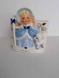 Vintage Napco Little Bo Peep Planter or Vase by SnickKnacks