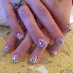 Sparkly gel nails done @Andy Nails in indianapolis,in