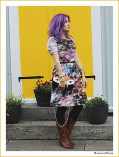 Like A Riot, Yumi, Purple Hair, Herbstoutfit, Fashion Blog Iceland, Mode Blog Island, Lila Haare, Fall Style, Fall Fashion, Autumn Outfit