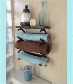 15 Cool DIY Towel Holder Ideas for Your Bathroom 10