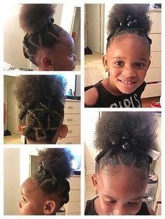 (notitle) - Hairstyles for Karis - Haar Pflege Easy Black Girl Hairstyles, Little Girls Natural Hairstyles, Cute Toddler Hairstyles, Cute Girls Hairstyles, Princess Hairstyles, Pretty Hairstyles, Khloe Hair, Jasmine Hair, Hairdo Wedding