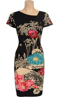 Vintage Inspired Autumn | ❀ | Shoulderpleat Dress Hanami - Flower Pattern | ❀ | King Louie AW14