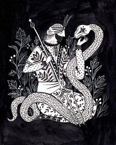 Cheikh et une impression dArt serpent
