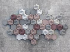 Edgy' - Asymmetrical surfaces and soft colours New Kaza Concrete three-dimensional tile collection