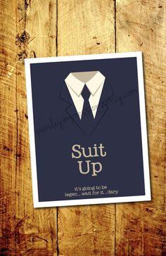 Suit Up How I met your Mother Barney by PaisleyImpressions Legendary Barney, Barney Stinson Quotes, Cute Wall Decor, Fantastic Quotes, Yellow Umbrella, Himym, How I Met Your Mother, I Meet You, Quote Prints