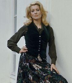 — Catherine Deneuve modelling for Yves Saint Laurent
