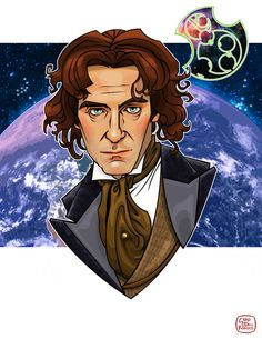 The Eighth Doctor by ChadODellRoberts on DeviantArt Eighth Doctor, 13th Doctor, Doctor Who The Movie, Paul Mcgann, Who Do You Love, Digital Ink, Classic Series, Dalek, Dr Who