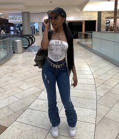 Cute Swag Outfits, Dope Outfits, Girl Outfits, Fashion Outfits, 2000s Fashion, Look Fashion, Fashion Women, Mode Streetwear, Streetwear Fashion