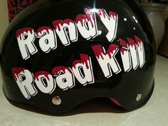 Randy RoadKill: Rose City Rose Petals, custom painted roller derby helmet 2013