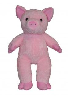 "Singing 16"" plush Pink Pig which plays custom music featuring your child's name."