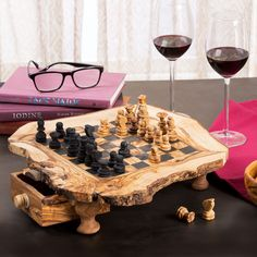 This one of a kind chess set game is always beautifully detailed and never fails to make a wonderful display or decorative center piece. It also makes a perfect gift.