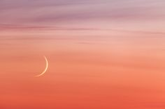 Sail - Young moon and sunset colors