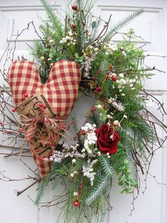 Valentine's Day Door Wreath ~ so pretty