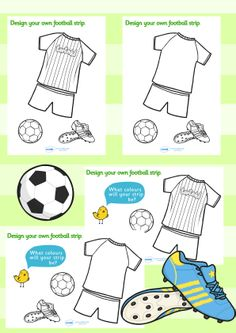 Football/World Cup- Design a football strip worksheet