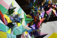 nuria mora origami sculptures exhibition