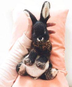 schwarz keychain rosa o Kaninchen Schlüsselanhänger Hase rabbit bunny weiß
