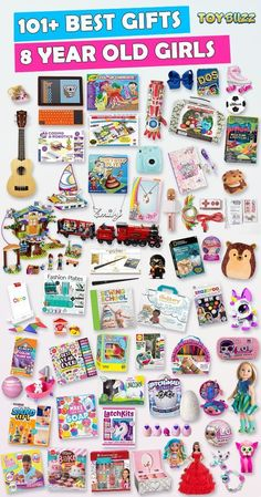 Browse our Gift Guide For Kids 2019 with 300+ Best Gifts For Girls. Discover educational toys, unique kids gifts, kids games, kids books, and more for your 8 year old girl. Make her Birthday or Christmas extra magical with these delightful picks she'll love! #giftguide #birthdaygifts #christmasgifts #giftideasforkids