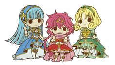 """camisado: """"I also tried to up-scale the Knights with and give them a transparent background. It might not be perfect in around hair curls etc. because it was just a quick job in PSE but I'm. Manga Girl, Manga Anime, Anime Art, Chibi, Western Anime, Magic Knight Rayearth, Divas, Video Game Anime, Anime Toys"""