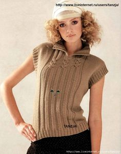 Elegant Sleeveless Top free knitting graph pattern  crochet/tricot just inspiration... more: http://pinterest.com/gigibrazil/crochet-and-knitting-lovers/