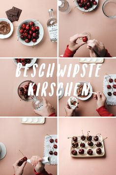 So zauberst du aus Tiroler Kirschen kleine Pralinen. Holiday Decor, Recipes, Food, Cakes, Cute Ideas, Chocolate Candies, Treats, Meal, Food Recipes