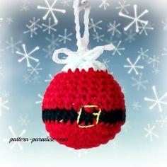 Santa Crochet Christmas Tree Ornaments by Crochet Christmas Decorations, Crochet Decoration, Crochet Christmas Ornaments, Christmas Crochet Patterns, Christmas Knitting, Handmade Christmas, Santa Ornaments, Ornament Wreath, Crochet Santa